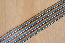 Flachbandkabel 40-polig , farbkodiert , 1 Meter