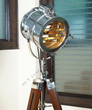 Nautical Floor Lamp Woodern Tripod Stand Designer Wooden Lamp Base Without Lamps