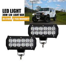 "DOT 2X 7"" 36W LED Work Light Bar Spot Offroad Jeep 4WD Pickup SUV ATV Fog Light"