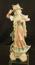 """Antique 12"""" Tall German Bisque Conta Boehme Figurine~Late 19th C~""""Girl in Hat"""""""