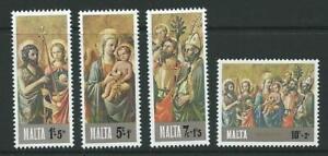 MALTA SG568/71 1976 CHRISTMAS MNH