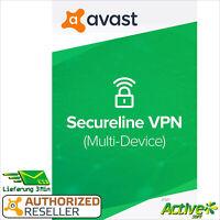 Avast SecureLine VPN 2021 5 Geräte 2 Jahre | Internet Security | Privatsphäre
