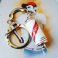 Unique RED STRIPE KEYRING fab LAGER pub MINIATURE keychain CAN fab JAMAICAN BEER