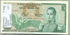 COLOMBIA 5 PESOS P406 1979 X 100 PCS LOT BUNDLE EAGLE CONDOR UNC MONEY BANK NOTE