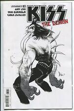 KISS: THE DEMON #3 STRAHM BLACK & WHITE b & w SKETCH VARIANT 1:10 COVER E