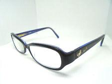 Coach Eyeglasses Pilar 2037 Navy Blue 52-15-135 with Rhinestones Butterflies
