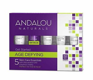 Andalou Naturals Get Started Age Defying - 5 Piece Kit - Gift Set DENTED BOX!