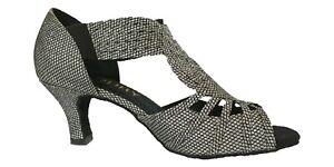 Ladies Silver Ballroom Shoes