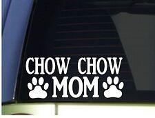 Chow Chow Mom sticker *H345* 8.5 inch wide vinyl chow dog leash collar