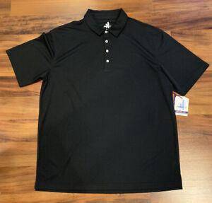 NEW Johnnie-O Men's Prep-Formance Polo Golf Shirt CMPO1070 Fairway Black 2XL XXL