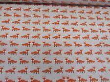 Fabulous Fox Orange & Linen Designer Fabric - Curtain Upholstery Crafts Blinds