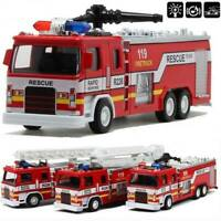 Toys Car for Boys Truck Kid Cars Fire Truck & Led Light Musical Cool Toy Gift FR