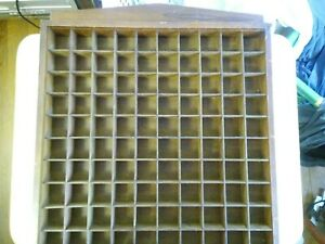 100 Squares Cube Wood Wall Hang Display Shelf Storage Organize, 1 Inch Squares