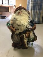 "CHRISTMAS FIGURINE 24"" Handcrafted Santa Figurines USA Rare See Description"