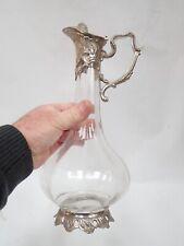 Ancienne aiguière / carafe en verre de forme décagone époque 1900 / parfait état