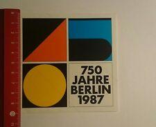 Aufkleber/Sticker: 750 Jahre Berlin 1987 (20111689)