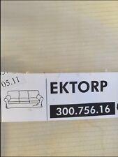 IKEA EKTORP COVER SLIPCOVER for 3 Seat Sofa Lenasen LT Beige CORDUROY 300.756.16