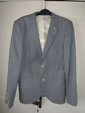 Primark  Summer Suit Jacket Mens Size Small Light Blue Skinny fit Blazer