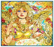 Angel of Golden Pearls Contemporary Yumi Sugai Counted Cross Stitch Pattern