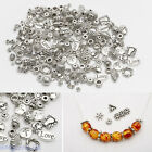 Wholesale DIY 12-210Pcs Silver Plated Loose Spacer Beads Charms Jewelry Making