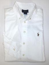 POLO RALPH LAUREN Boys Oxford Size 18-20 Shirt Kids XL Long Sleeved Top NEW
