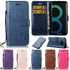 Elephant Wallet Leather Flip Case Cover For Samsung J3 J5 A3 A5 2017 S5 S6 S7 S8