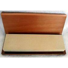 "10"" x 3"" x 3/4-1"" Hard Arkansas Whetstone Knife Sharpener/Box  (800 grit US)"
