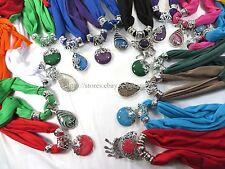 US SELLER-6pcs Scarves for Women wholesale jewelry scarf necklace bulk lot