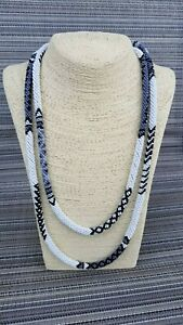 Long Y Necklace Beads crochet Lariat Women African Jewelry Seed bead Rope
