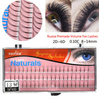 Nivina 3 Rows Premade Volume Fan Lashes 0.10 Thickness D Curl Eyelashes Long-