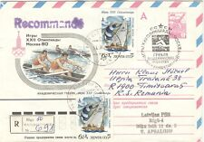 RUSSIA Olympische Spiele Olympic Games 1980 registered Riga with Rowing