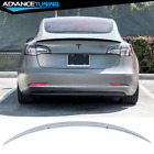 Fits 17-22 Tesla Model 3 ABS Trunk Spoiler OE Painted #PPSW White Water Pearl