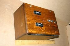 Vintage #2 Automatic Electric Company Wood Phone Desk Box + Extra Rls Light Bulb