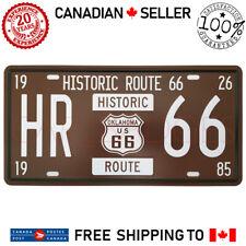 Historic Route 66 Oklahoma Car License Plate Tag Metal Tin Sign Garage Bar Decor