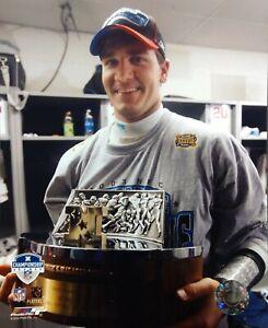 JAKE DELHOMME Carolina Panthers 2003 NFC Champions GEORGE HALAS 8X10 PHOTO