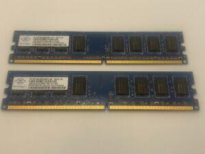 Nanya PC2-6400 3GB (2+1) UDIMM 800 MHz PC2-6400 DDR2 Memory (NT2GT64U8HD0BYAD)