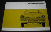 Betriebsanleitung VW 1500 Karmann Ghia Coupe Coupé + Cabrio August 1966!
