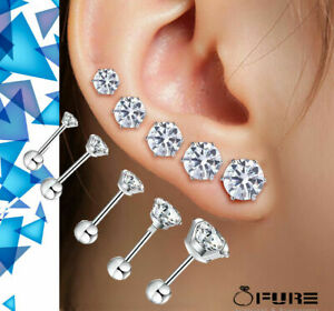 Surgical Steel Studs Hypoallergenic Earrings for Women and Girls Studs Piercing