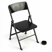 """1/6 Scale Black Folding Chair Furniture Model For 12"""" Action Figure Scene Prop"""