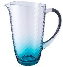 Forjado Efecto Plástico Acrílico Grande Bebida Jarra Turquesa Tinte