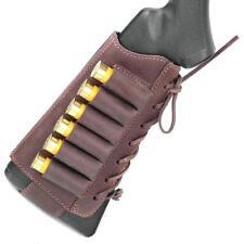 334f10bb4c6 Retro Hunting Shotgun Shell Holder 6 Shell Cartridge Ammo Brown Leather 12  GA