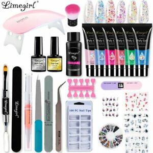 Poly UV Gel Kit All For Manicure Gel Nail Extension Set Acrylic