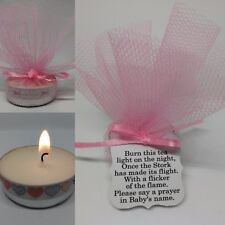 PINK BABY SHOWER CANDLE FAVOURS GUEST THANK YOU GIFTS
