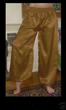 Harem Pants Belly Dance Satin Bright Kaki Brown