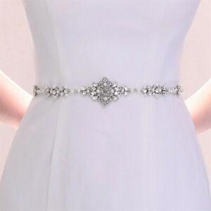 Rhinestones Bridal Belts Shining Wedding Accessories for Brides Prom Party Dress