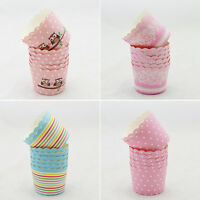 50x Utility Cake Baking Paper Cup Cupcake Liner Muffin Cases.Fit Home Party safe