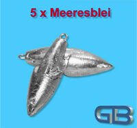 5 x Meeresblei, Brandung oder Paternosterblei, Angelblei, Strömungsblei.