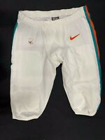 "#62 MIAMI DOLPHINS NIKE GAME USED ""THROWBACK"" PANTS 2019/2020 SEASON W/STRING"