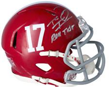 """TUA TAGOVAILOA Autographed Alabama """"Roll Tide"""" Speed Mini Helmet FANATICS"""