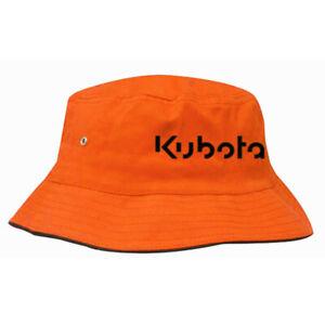 Kubota Branded Orange Flexible Leisure Bucket Hat